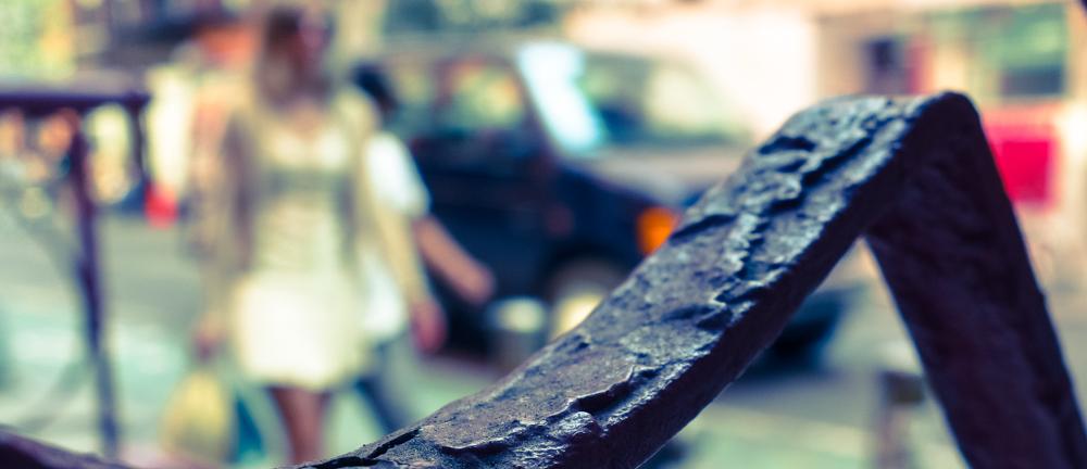 Look beyond the rust grasshopper.......